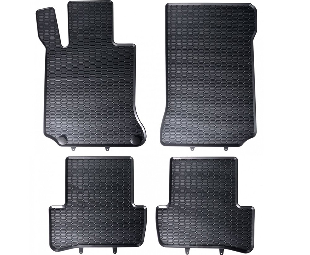 TAPPETI TAPPETINI IN GOMMA Mercedes C W204 2007-2014