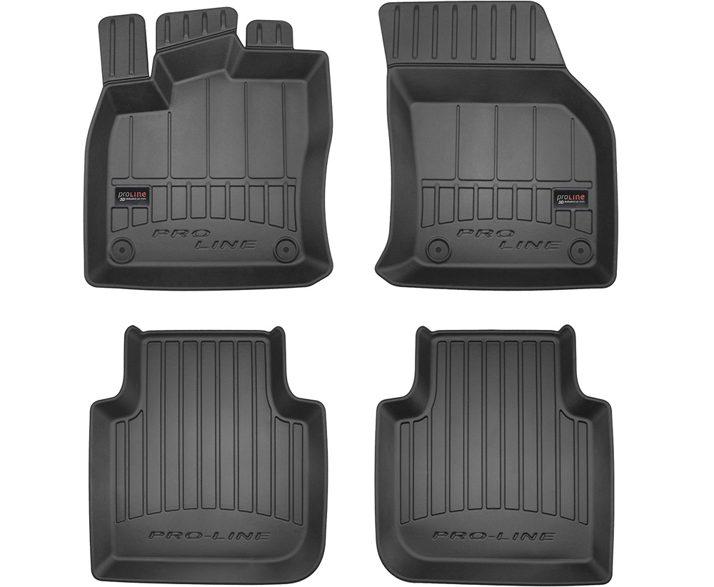 TAPPETI TAPPETINI GOMMA 3D PRO-LINE per Seat Tarraco dal 2018 tipo Weathertech
