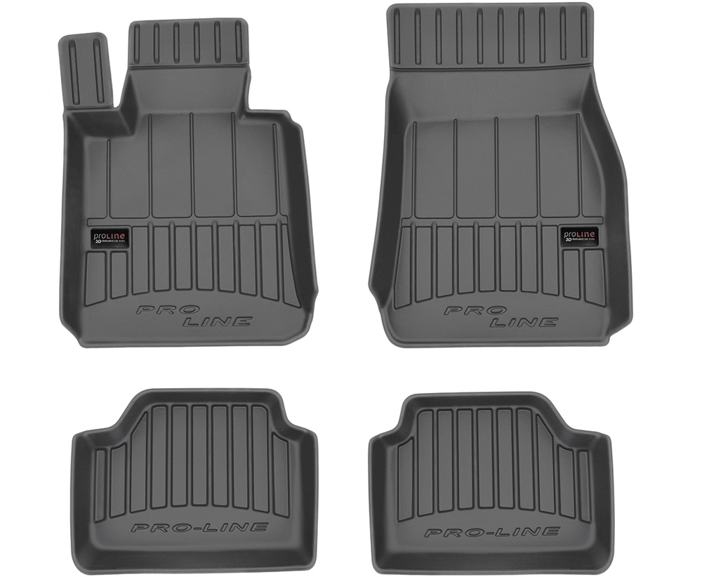 TAPPETI TAPPETINI GOMMA 3D PRO-LINE per BMW 1 F20 dal 2011 tipo Weathertech